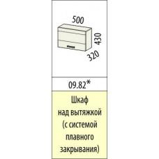 09.82.1 Шкаф над вытяжкой 500 мм (с системой плавного закрывания) Оранж 9