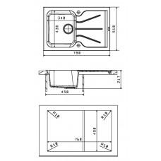Кухонная мойка ГАТТИНАРА 780