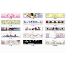 Пристеночная панель (фартук) Цветы