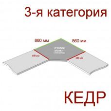 Угловая столешница КЕДР 3-я группа - Цвет: Мрамор белый ГЛЯНЕЦ 727/1