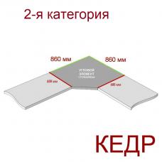 Угловая столешница КЕДР 2-я группа - Цвет: Ниагара 2905/S