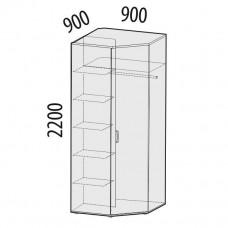 52.03 Шкаф для одежды угловой