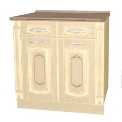 03.63.2 Стол с 2 ящиками с метабоксами с колоннами