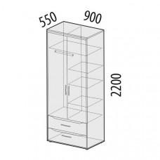 Шкаф для одежды Мегаполис 55.01